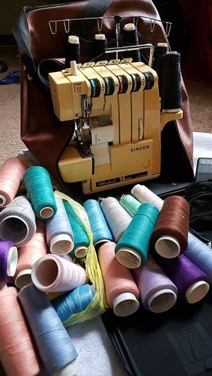 Serger Sewing Machine with Thread for Sale in Eldridge, IA