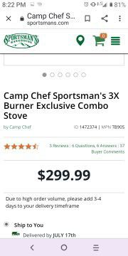 Camp chef for Sale in Tyler, TX