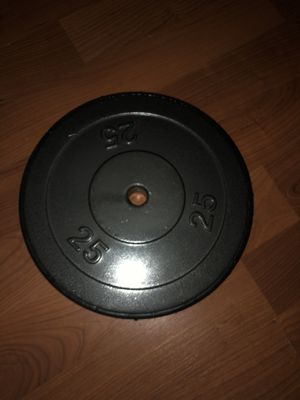 Single 25lb weight plate standard size excellent condition for Sale in Zephyrhills, FL