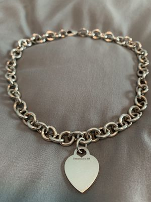 Tiffany & Co Heart Charm Necklace for Sale in Seffner, FL