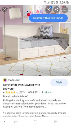Free twin bed frame with drawers for Sale in Lake Elsinore, CA