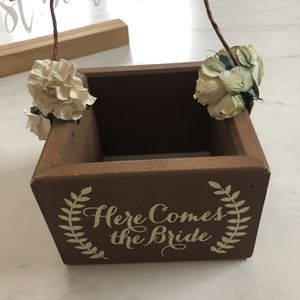 Flower Girl Here Comes The Bride Basket for Sale in Chicago, IL