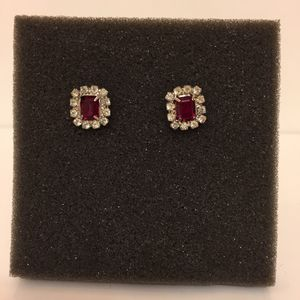 Faux Ruby & Diamond Earrings for Sale in Arlington, VA