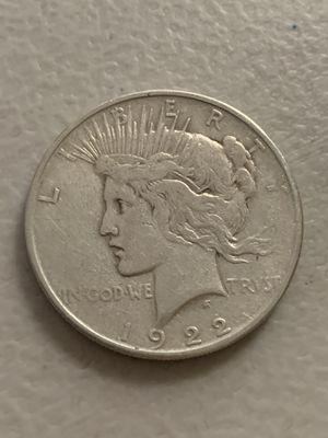 ..1922-D..Peace Silver Dollar for Sale in San Jose, CA