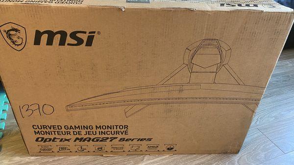 Monitor curve msi new 165 hz