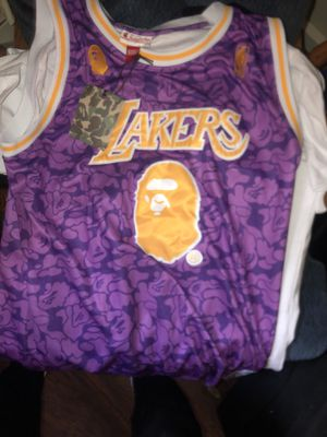 """Bape Lakers Jersey """"purple"""" 100% authentic (xxl) fits like a large for Sale in Bensalem, PA"""