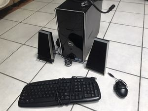 Dell Inspiron 580 Bundle [i3 3.2 ghz Hard-drive/4GB Ram/Windows 10 Pro W/MONITOR, SPEAKERS, MOUSE AND KEYBOARD for Sale in Hesperia, CA