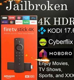 """JAIL BROKEN 4K FIRE Stick 🔥🔥🔥🔥Alexa Voice 2020 Best Build Unlocked NEW. Condition is """"New"""" NO MORE NEED FOR CABLE. for Sale in The Bronx,  NY"""