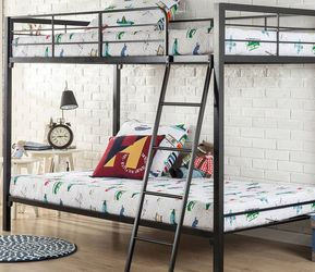New in Box, Zinus Quick Lock Twin over Twin Metal Bunk Bed for Sale in Newburgh Heights,  OH
