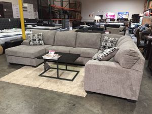 Microfiber Sectional Sofa, Platinum for Sale in Downey, CA