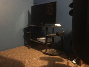 NOT XBOX JUST entertainment center and two speakers for Sale in Mount Morris, MI