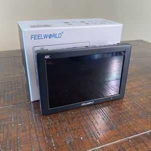 FEELWORLD FW759 7 Inch DSLR Camera Field Monitor HD Video Assist Slim IPS 1280x800 4K HDMI 1080p with Sunshade for Sale in Los Angeles, CA