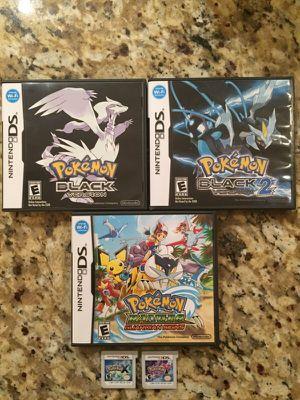 Nintendo 3DS & DS Pokemon Game Lot(Black/Ranger/X & Y) for Sale in Atlanta, GA