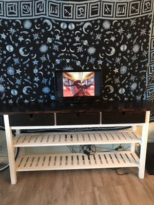 Hand painted tv stand/ entry way / storage furniture for Sale in Phoenix, AZ