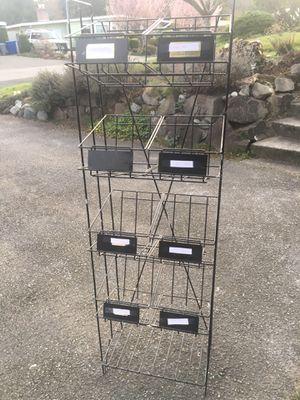 Magazine / garage storage metal rack for Sale in Bellevue, WA