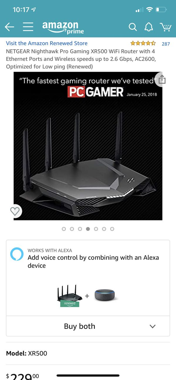 NETGEAR NIGHTHAWK Pro Gaming XR500 WiFi Router