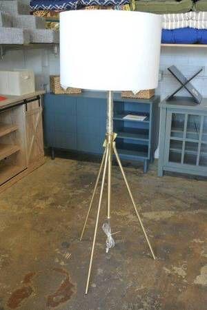 Modern Mid Century Tripod Adjustable Floor Lamp in Gold for Sale in Mesa, AZ