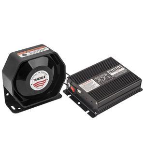 Car Amplifier Police Siren & Metal Ultra Slime Octagon Flat Speaker,DC12V 100W Multi-Tones Wireless Remote Control with Mic Loudspeaker Emergency for Sale in La Habra Heights, CA