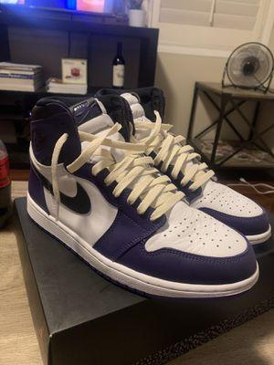 Jordan 1 court purple size 10.5 for Sale in Hacienda Heights, CA