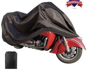 "Motorcycle Cover Waterproof Sunblock Dustproof Outdoor Garage Motor Cover with 3 Adjustable Buckles XXXL Fit up to 108"" Harley Davidson Honda Suzuki for Sale in Katy, TX"