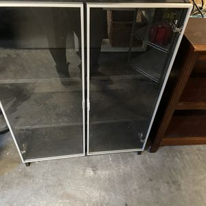Glass Door Bookshelves / Bookcases / Shelves Dimensions In Pics for Sale in Issaquah, WA
