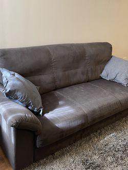 Ikea Dark Grey Microfiber 3-Seater Sofa for Sale in Philadelphia,  PA