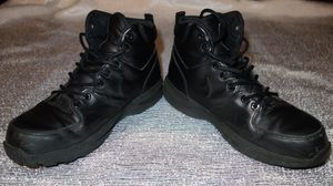 Nike Men's Size 8 Manoa Leather Work BOOTS Shoes Black for Sale in New York, NY