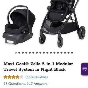 Maxi Cosi Zelda 5in 1 Modular Travel System In Night Black for Sale in Manor, TX