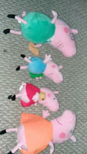 Peppa Pig family set plushes for Sale in Germantown, MD