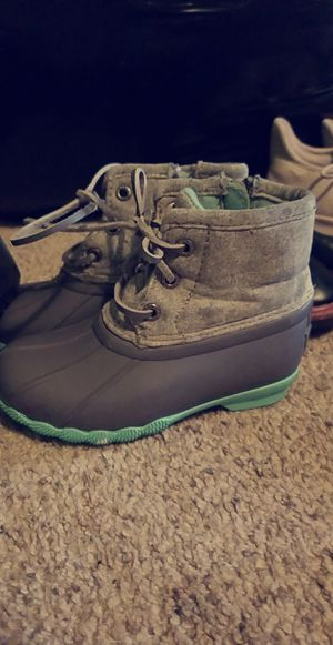 Sperry little girls boot & other barely worn boot & Adidas for Sale in Gresham, OR