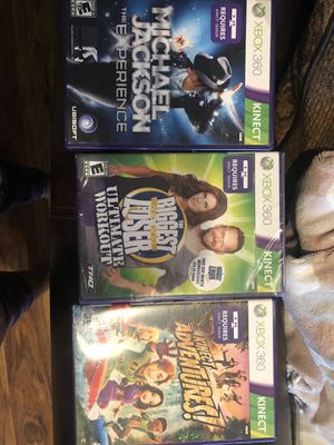 3 Xbox 360 Kinect games - family friendly for Sale in Everett, WA