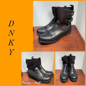 DNKY Leather Womens Boots Black Moto for Sale in St. Petersburg, FL