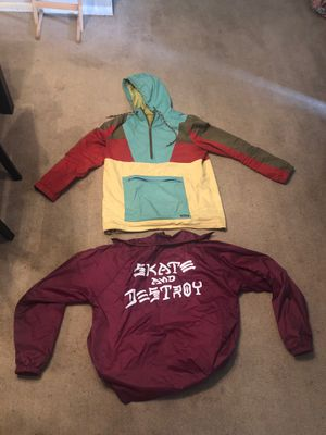 Dravus Jacket and Thrasher jacket!!! for Sale in Bedford, OH