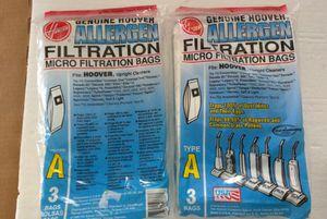 2 Pak Hoover Allergen Type A Vacuum Bags for Sale in Vallejo, CA