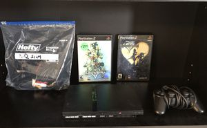 ps2 slim complete works with kingdom hearts 1 and 2 used for Sale in Las Vegas, NV