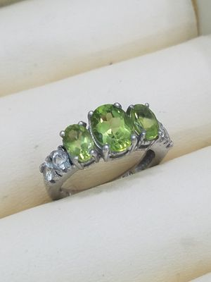 Peridot ring set in silver for Sale in Las Vegas, NV