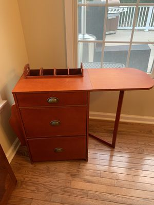 Mobile filing cabinet with small work shelf. for Sale in Holmdel, NJ