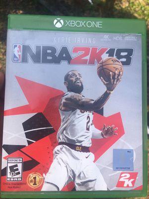 2k18 Xbox One for Sale in Jacksonville, FL
