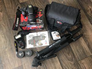 Canon Rebel T5i camera, lenses, and accessories! for Sale in Marietta, GA