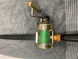 Okuma Titus TG 15 II Gold reel with Baitcaster rod combo for Sale in West Palm Beach, FL