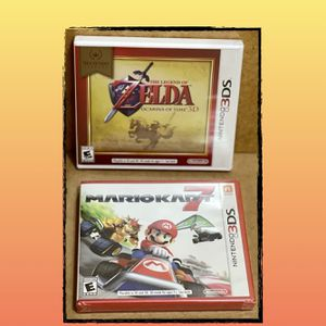 "Mario Kart 7, The Legend Of Zelda Ocarina 3d ""New"" Nintendo Bundle for Sale in Miami, FL"