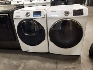 Samsung Washer and dryer electric front loader new full warranty 🎈🎈🎈🎈 for Sale in Tolleson, AZ