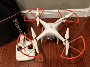 DJI Phantom 3 standard drone 2.7K HD 3-axis gimbal with backpack for Sale in Torrance, CA