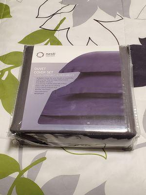 Duvet Cover Set, Queen, Gray, Microfiber for Sale in Marysville, WA