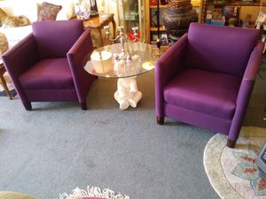 Pair of heavy duty purple arm chairs for sale for Sale in St. Louis, MO