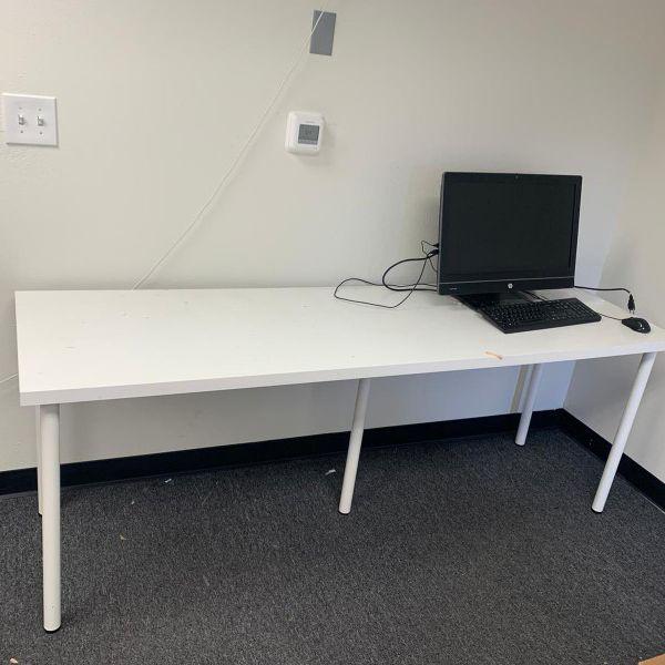 IKEA Long White Desk