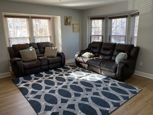 Used reclining leather sofa and couch set for Sale in Frederick, MD