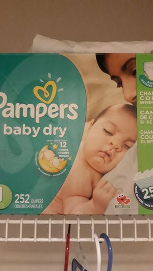 Pampers Size 1 168 of 252 still wrapped. for Sale in Lawrenceville, GA