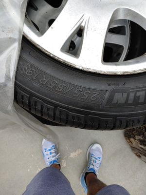 Four Range Rover rims and tires for Sale in Denver, CO