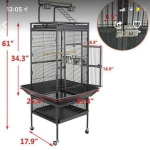 """61"""" Large Bird Cage Large Play Top Parrot Finch Cage Pet Supplies Removable Part for Sale in Garden Grove, CA"""